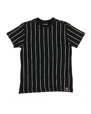 Tops - Printed Stripe Crew Neck T-Shirt (8-20)-2353122