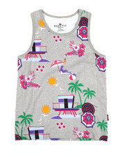 Born Fly - Printed Tank Top (8-20)-2353552