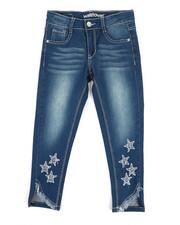 Jeans - Crop Jeans W/Star Cut Outs (7-16)-2353277