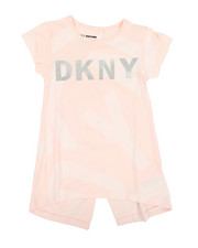 Girls - Classic Jersey Top W/ All Over Letter Print (7-16)-2347204