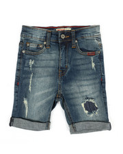 SMITH'S AMERICAN - Distressed Denim Shorts W/ Rolled Up Hem (4-7)-2355121