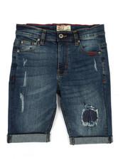 SMITH'S AMERICAN - Distressed Denim Shorts W/ Rolled Up Hem (8-20)-2355135