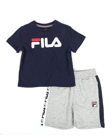 Fila - 2 Pc Classic Logo Tee & Shorts Set (2T-4T)