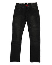 Jeans - Stretch Denim Embossed Moto Jeans (8-20)-2354737
