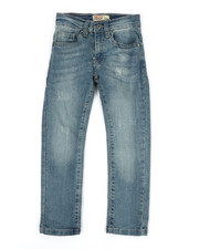 SMITH'S AMERICAN - Vintage Wash Denim Jeans W/ Distressed Detail (2T-4T)-2355150