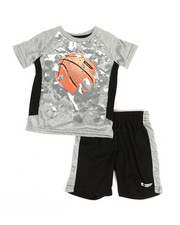 HIND - 2 Pc Raglan Top & Shorts Set (2T-4T)-2350885