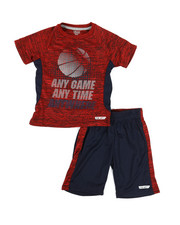 HIND - 2 Pc Raglan Top & Shorts Set (4-7)-2350829