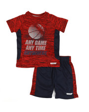 HIND - 2 Pc Raglan Top & Shorts Set (2T-4T)-2350825