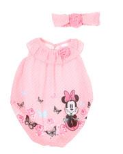 Disney/Sesame Street - 2 Pc Butterfly Print Romper W/ Headband (Infant)-2350668