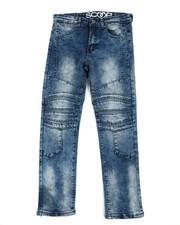 Bottoms - Stretch Denim Cut & Sew Moto Jeans (8-20)-2354899