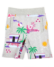 Bottoms - All Over Printed Loopback Shorts (4-7)-2355708