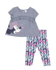Disney/Sesame Street - 2 Pc Minnie Top & Leggings Set (Infant)-2350660