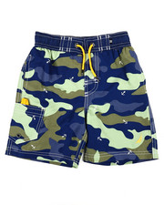 Swimwear - Camo Printed Swim Trunks (4-7)-2355266