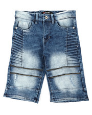 Southpole - Stretch Zipped Biker Denim Shorts (8-20)-2354686