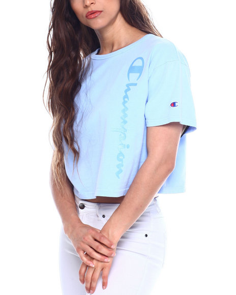 0773dcfb333 Buy Garment Dyed Cropped Tee Women's Tops from Champion. Find ...