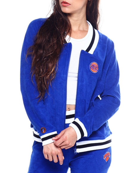 NBA MLB NFL Gear - Knicks Loops Out Terry Cloth Jacket