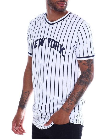 Buyers Picks - New York Pinstripe  V Neck Tee