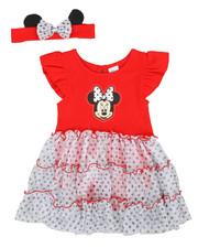 Sets - 2 Pc Minnie Print Dress W/ Headband (0-24MO)-2350672