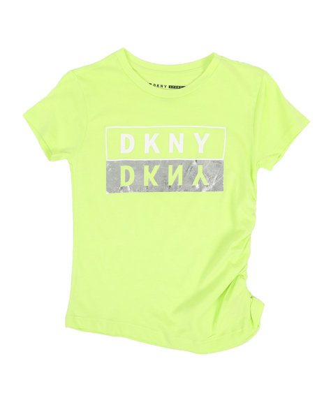 DKNY Jeans - Ruched Side Logo Top (7-16)
