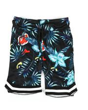 Shorts - Jungle Print Knit Shorts w/ Tape Trim (4-7)-2353096