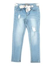 Jeans - Jeans W/Grommets & Scarf Belt (4-6X)-2353256