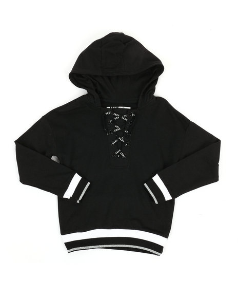 DKNY Jeans - Lace-Up Hoodie (7-16)