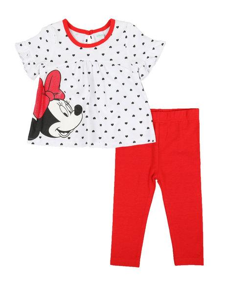Disney/Sesame Street - 2 Pc Minnie Top & Leggings Set (0-24mo)