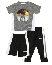 HIND - 3 Pc Graphic Tee, Shorts & Pants Set (2T-4T)-2350813
