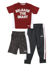 HIND - 3 Pc Graphic Tee, Shorts & Pants Set (4-7)-2350776