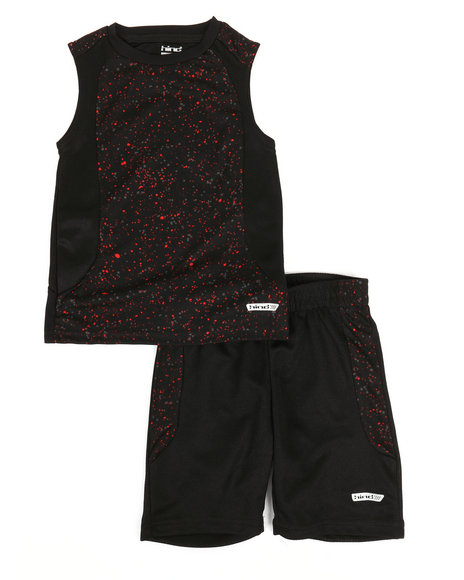 HIND - 2Pc Graphic Muscle Top & Shorts Set (4-7)