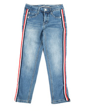 La Galleria - Ankle Length Jeans W/Side Taping (7-16)-2356153