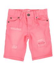 Girls - Bermuda Denim Shorts W/ Sequins (4-6X)-2356135