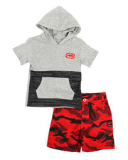 Sets - 2Pc Hooded Tee & Shorts Set (2T-4T)-2350727