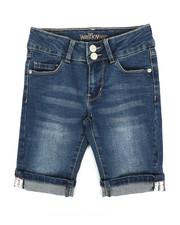 La Galleria - Bermuda Shorts W/Selvedge Tape Cuff Detail (7-16)-2356172