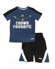 HIND - 2 Pc Yarn Cut & Sew Tee & Shorts Set (4-7)-2350837