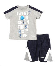 HIND - 2 Pc Yarn Cut & Sew Tee & Shorts Set (2T-4T)-2350910