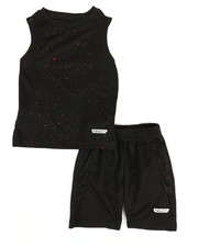 HIND - 2Pc Graphic Muscle Top & Shorts Set (2T-4T)-2350756
