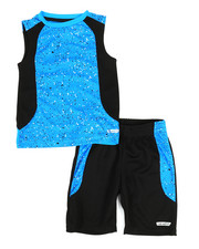 HIND - 2Pc Graphic Muscle Top & Shorts Set (4-7)-2350768