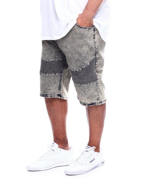 Phat Farm - Washed Rip & Repair Stretch Moto Denim Shorts (B&T)