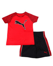 Sets - Poly Performance S/S Tee + Short Set (4-7)-2357066