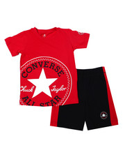 Sets - Oversized Chuck Patch Short Sets (4-7)-2356978