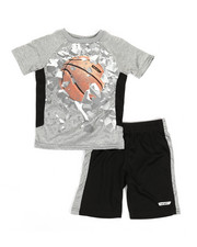 HIND - 2 Pc Raglan Top & Shorts Set (4-7)-2350876