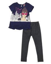 La Galleria - Fashion Top & Leggings Set (2T-4T)-2345849