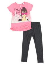 La Galleria - Fashion Top & Leggings Set (2T-4T)-2345853