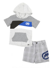 Sets - 2Pc Hooded Tee & Shorts Set (2T-4T)-2348828