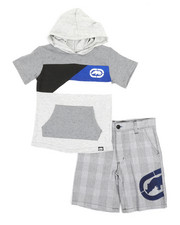 Sets - 2Pc Hooded Tee & Shorts Set (4-7)-2348832