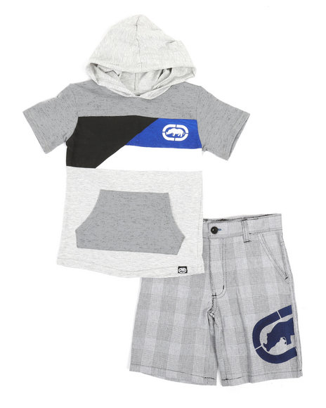 Ecko - 2Pc Hooded Tee & Shorts Set (4-7)