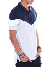 Jordan Craig - NAVY COLORBLOCK POLO-2358161