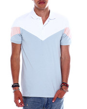Jordan Craig - BLUSH COLORBLOCK POLO-2358206