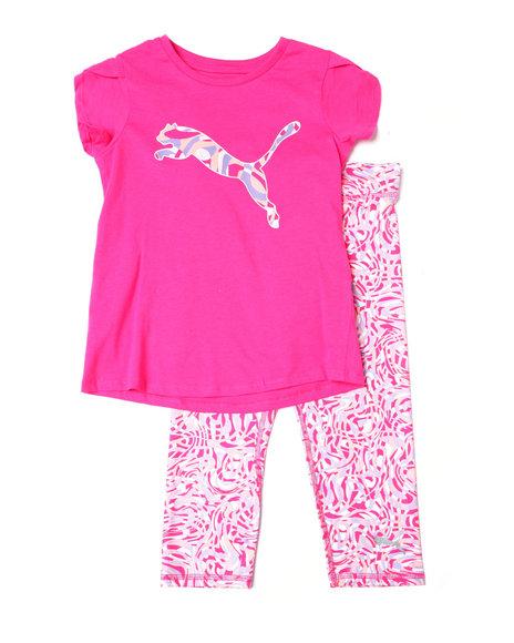 Puma - S/S Tee + Capri Legging Set (7-16)